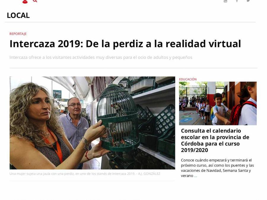Intercaza 2019: De la perdiz a la realidad virtual